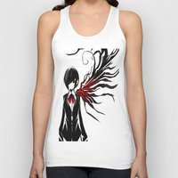 tokyo ghoul Tank Tops featuring tokyo ghoul  Touka by Lee Chao Charlie Vang