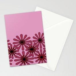 Pink Flower Pattern 1 Stationery Cards