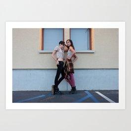 Kara Neko and Sara Cummings by Courtney McCullough Print Art Print
