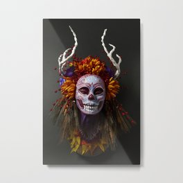 Autumn Muertita Front Metal Print