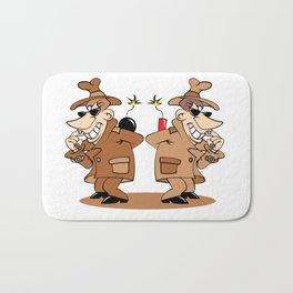 two spies Bath Mat