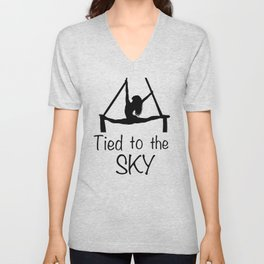 """Aeiralist """"Tied to the Sky"""" Graphic Unisex V-Neck"""