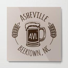 Asheville Beer - AVL 3 Brown Metal Print