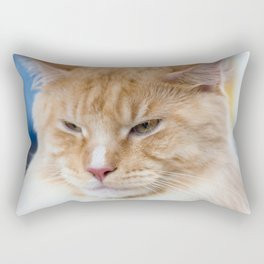 Red-white tabby Maine Coon cat Rectangular Pillow