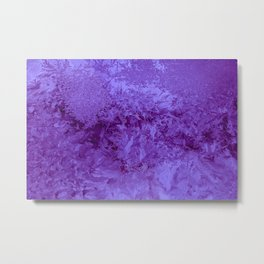 Abstraction Photography Frost Texture Violet Color Metal Print