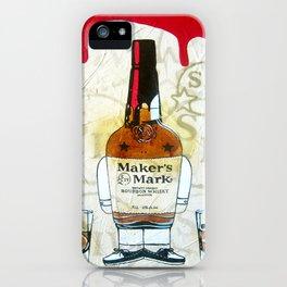 Bourbon Makers Mark cartoon illustration original painting print iPhone Case