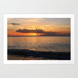 A Cayman Sunset Art Print