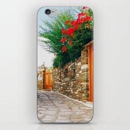 Pyrgos street iPhone Skin