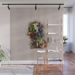 Dachshund Puppy Sketch Paint Wall Mural