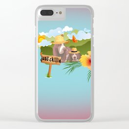 hayzy lazy hounds Clear iPhone Case