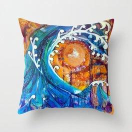 Aoukusai Wave Throw Pillow