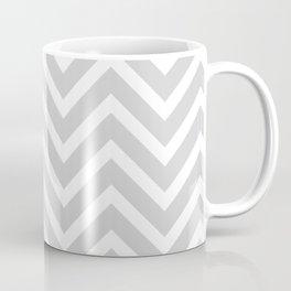 Chevron Stripes : Gray & White Coffee Mug