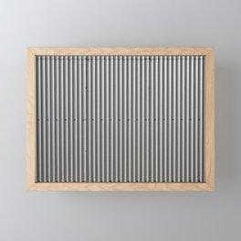 Corrugated Metal Background Framed Mini Art Print