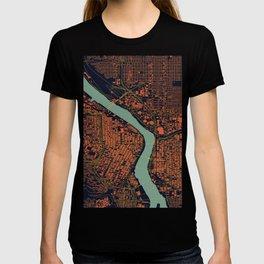 Portland, OR City Map T-shirt