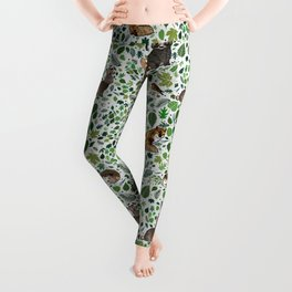 Woodland Animal Friends Leggings