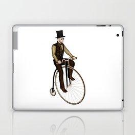 Penny Farthing Rider Laptop & iPad Skin