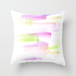 170527 Back to Basic Pastel Watercolour 1   |Modern Watercolor Art | Abstract Watercolors Throw Pillow