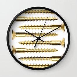 Golden Screws Poster Wall Clock