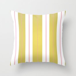 Golden and pink stripes Throw Pillow