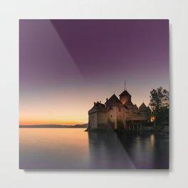 Sunset At Chillon Metal Print