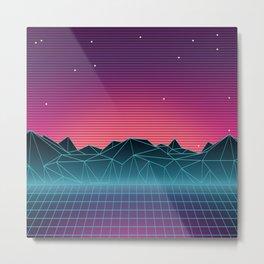 Vaporwave Landscape of the Future Metal Print