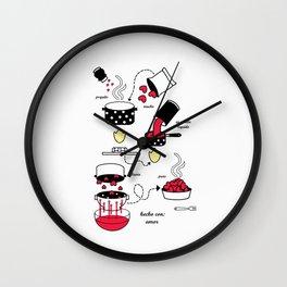 hecho con amor Wall Clock
