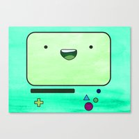 bmo Canvas Prints featuring BMO by Some_Designs