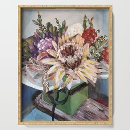 INSIDE THE GIFT BOX - Australian native dried flowers still life by HSIN LIN / H.Lin the Artist Serving Tray
