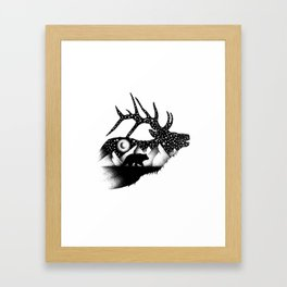 THE ELK AND THE BEAR Framed Art Print