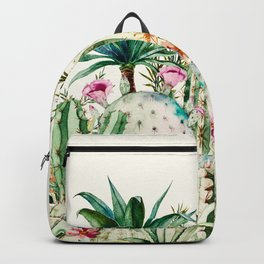Blooming in the cactus Backpack