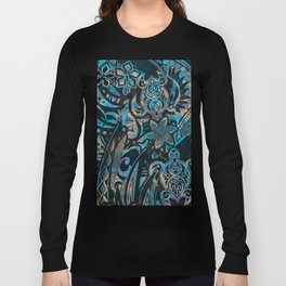 Hawaiian - Polnesian Tribal Abstract Long Sleeve T-shirt
