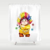 indian Shower Curtains featuring Indian  by tatiana-teni