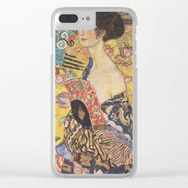 Gustav Klimt - Woman with Fan Clear iPhone Case