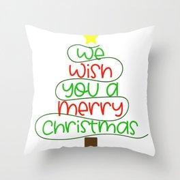 we wish you a merrye christmas Throw Pillow