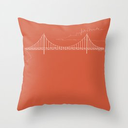 San Francisco by Friztin Throw Pillow