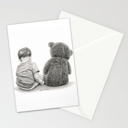 Just A Boy And A Bear Stationery Cards