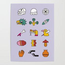 Aztec Writing Poster