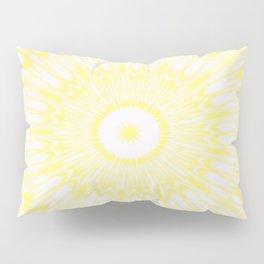 Lemon Yellow Kaleidoscope Pillow Sham