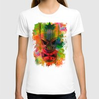 karu kara T-shirts featuring Tiki Kara by Ionic Slasher