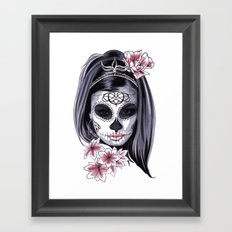 Sugar Skull Girl Framed Art Print
