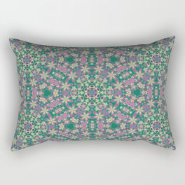 YELLO! Pink Flowers On The Lawn Rectangular Pillow