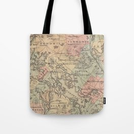 Vintage Map of The NH Lakes Region (1890) Tote Bag