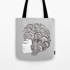 her hair Tote Bag