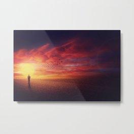 sunset stranger Metal Print