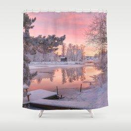 WINTER SCENE-3118/1 Shower Curtain
