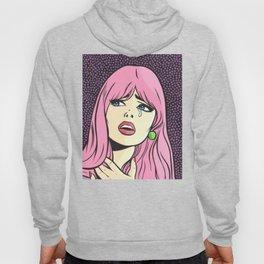 Pink Bangs Sad Girl Hoody
