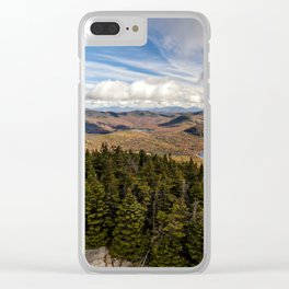 on top of blue mountain Clear iPhone Case