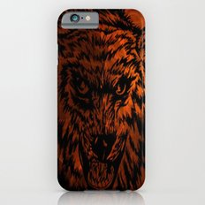 angry wolf fire iPhone 6s Slim Case
