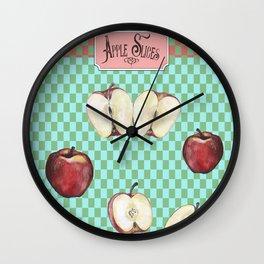 Apple Slices - 2 Wall Clock