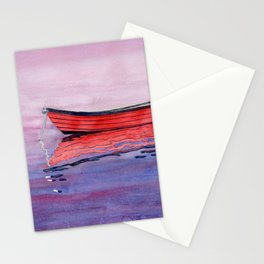 Red Dory Reflections Stationery Cards